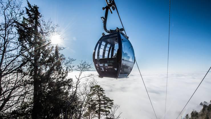 Auch im letzten Jahr beliebt aus dem Nebel an die Sonne. Im laufenden Jahr sollen zusätzliche 16 Gondeln – zu den 49 vorhandenen – beschafft werden.