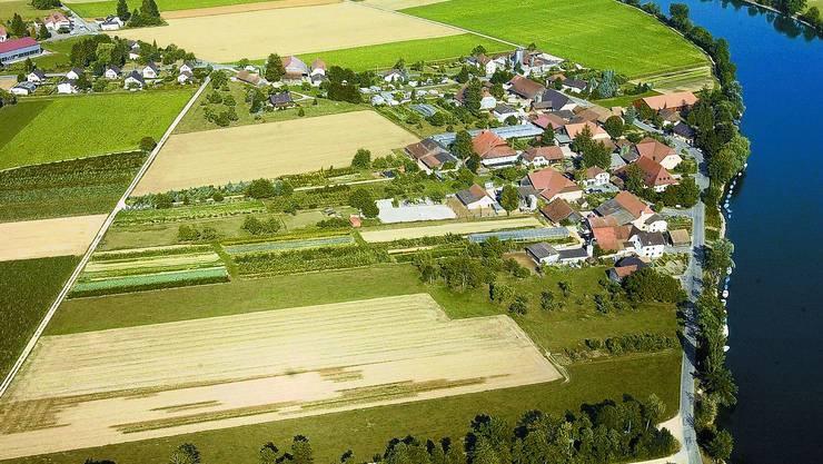 Vogelperspektive: Der Grenchner Weiler Staad soll keinen Anschluss mehr an das städtische Busnetz haben. (mt)