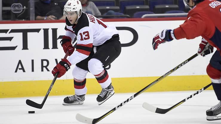 Kann Nico Hischier auch im ersten NHL-Spiel brillieren