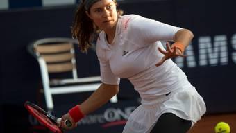 Den Blick nach vorne gerichtet: Stefanie Vögele steht in Lugano im Viertelfinal