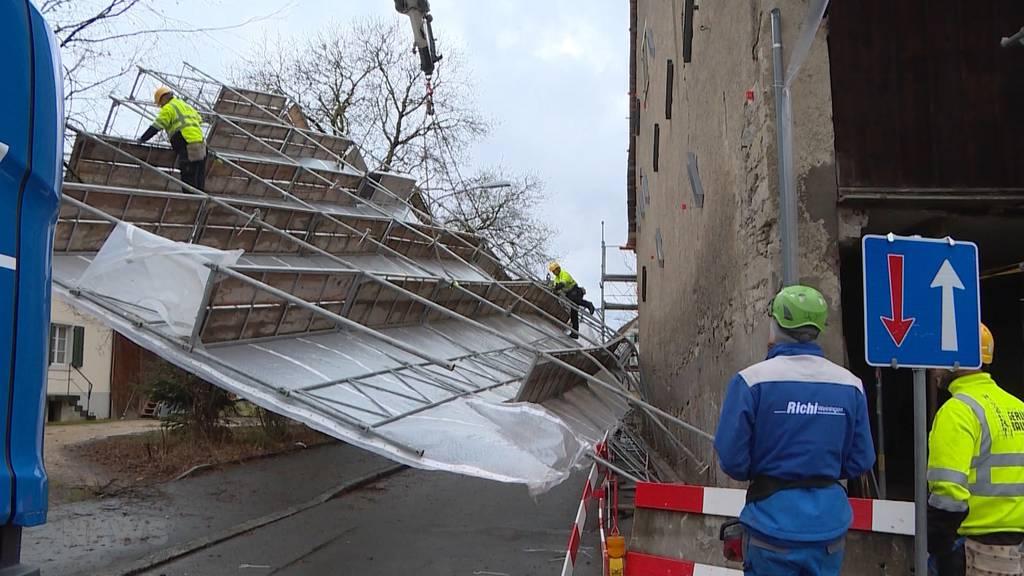 Sturm «Lolita» sorgt in Bern und Solothurn für Chaos