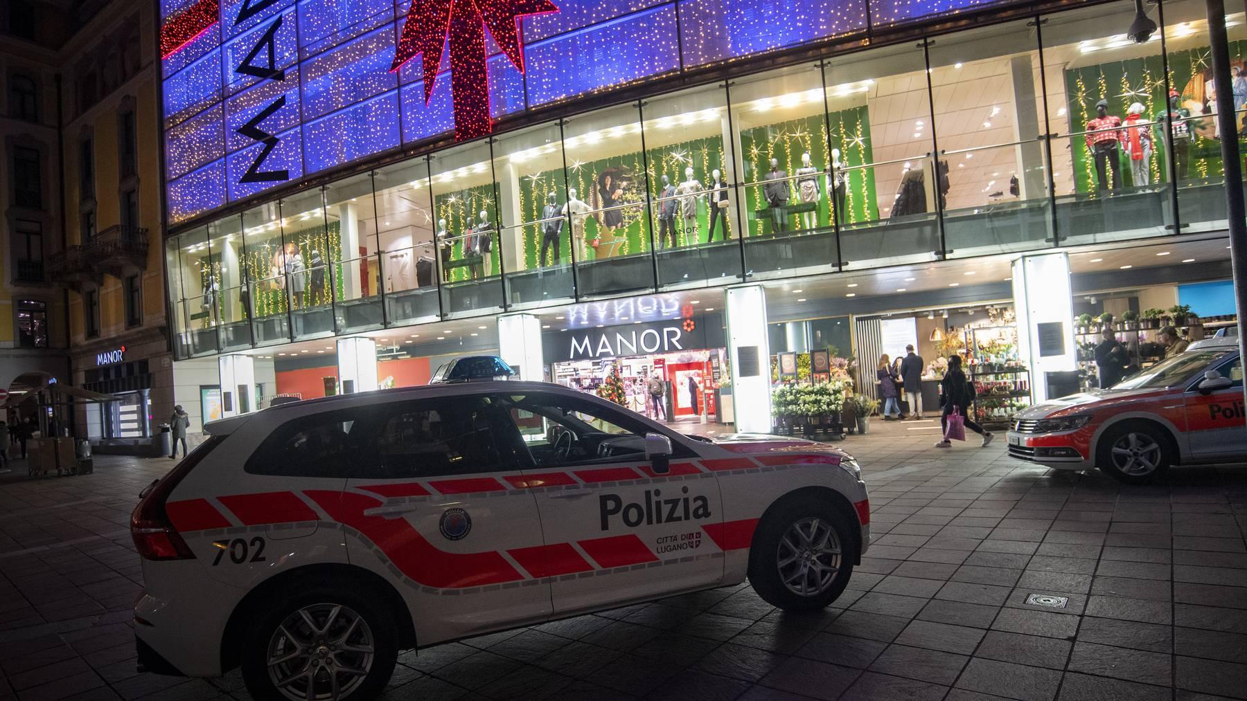 Der Messerangriff geschah im Manor an der Piazza Dante in Lugano.