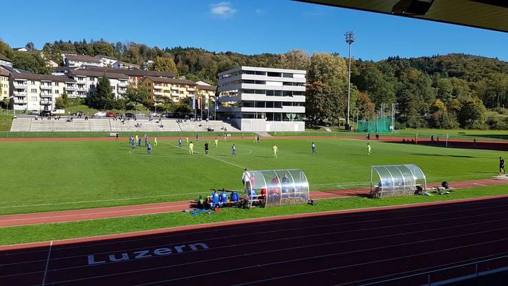 Schauplatz des irritierenden FCA-Auftritts: Das Leichtathletikstadion in Luzern