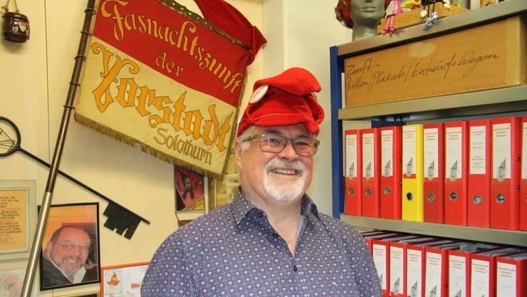 Kurt Füeg freut sich auf die Vernissage des Buch-Jubiläums «150 Jahre Fasnacht in der Vorstadt Solothurn».