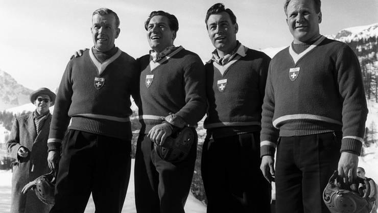 V.l.n.r.: Franz Kapus, Gottfried Diener, Robert Alt, Heinrich Angst.