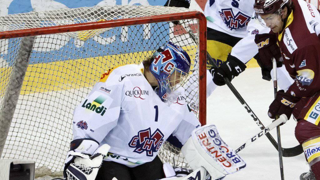 Liess sich in Genf nicht bezwingen: Biels Goalie Jonas Hiller