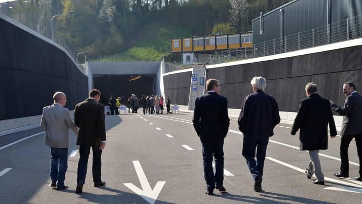 Für die offizielle Eröffnung der ERO gings in den Tunnel