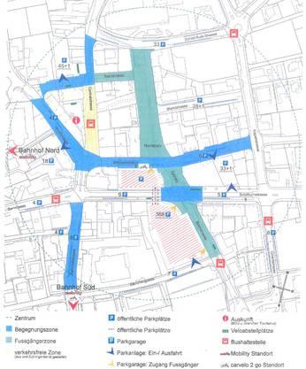 Die Zonen für Parkplätze in Grenchen