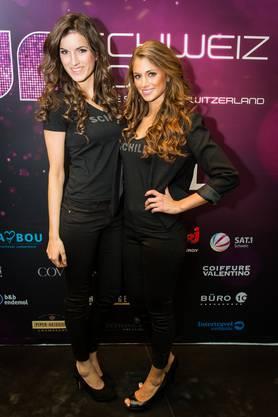 Pamela Ljubas (l.) und Janine Baumann: Miss-Schweiz-Kandidatinnen 2013.