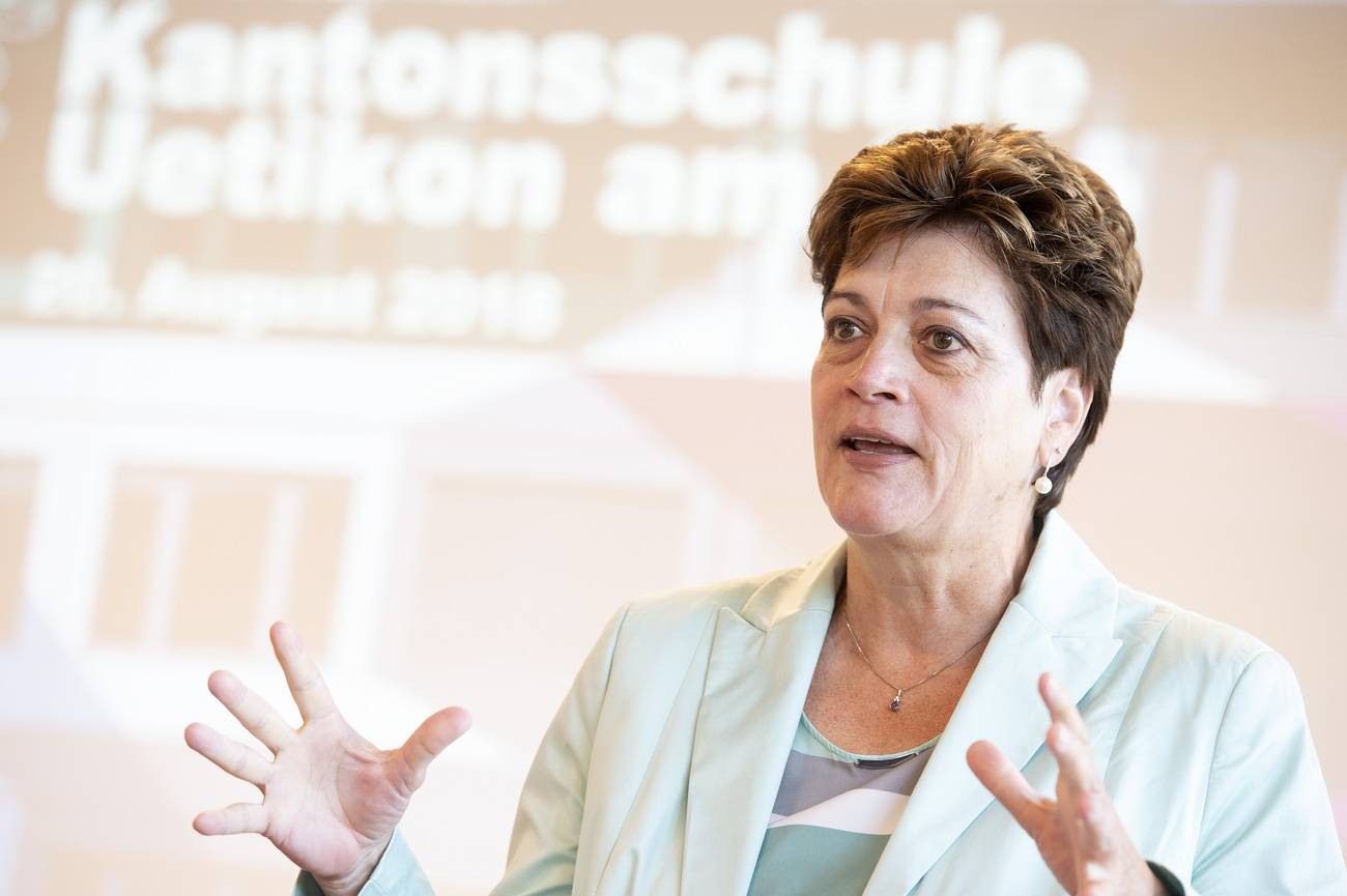Silvia Steiner (CVP) – Die amtierende Zürcher Bildungsdirektorin ist von Haus aus Anwältin und war früher bei der Kriminalpolizei. Sie wurde vor vier Jahren in den Regierungsrat gewählt und gilt als unumstritten. (© Keystone)