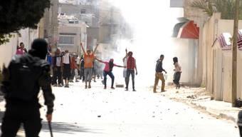 Strassenschlacht in Tunesien