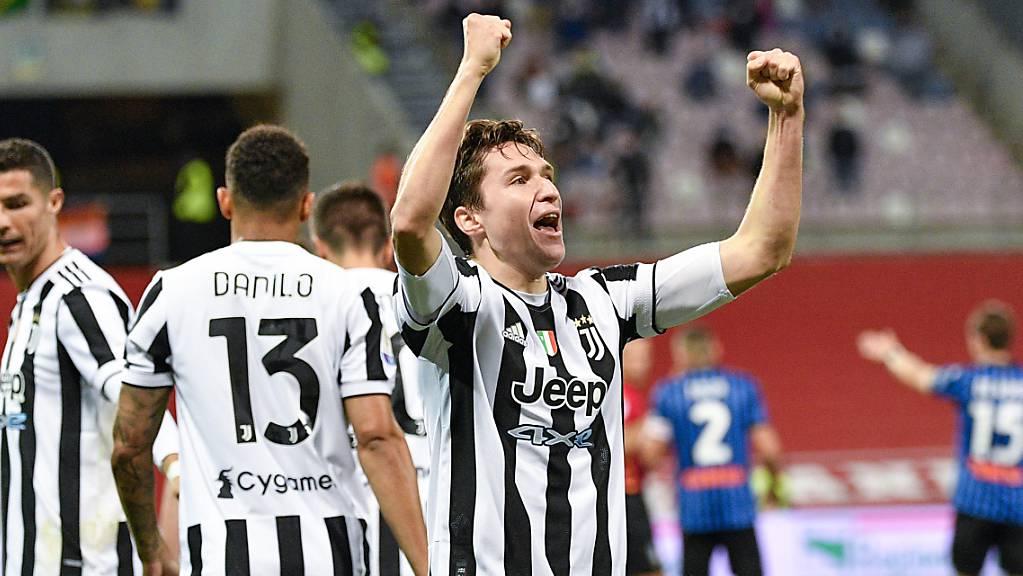 Federico Chiesa jubelt über sein entscheidendes Tor im Cupfinal: Ob der Titel allerdings die schwierige Saison der Turiner kaschieren kann, ist ungewiss