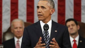 US-Präsident Barack Obama referiert zum letzten Mal vor den beiden Parlamentskammern zur Lage der Nation.
