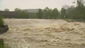 Gewaltige Wassermassen: Thur und Sitter bei Bischofszell.