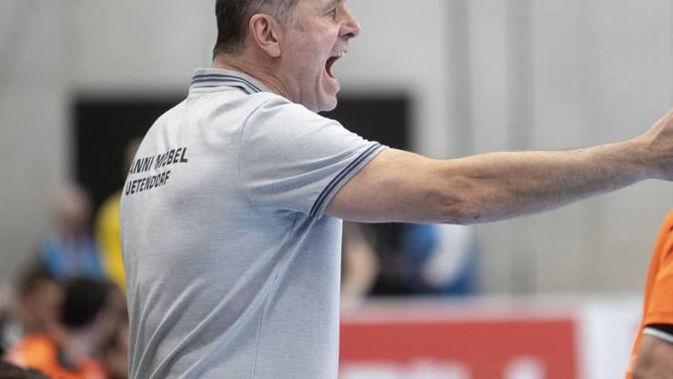 Das Team von Martin Rubin (Trainer Wacker Thun) fand in Spiel 4 gegen Suhr Aarau kein Rezept