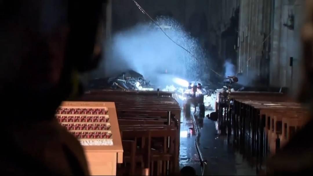 Notre-Dame: So sieht es in der Kathedrale nach dem Inferno aus