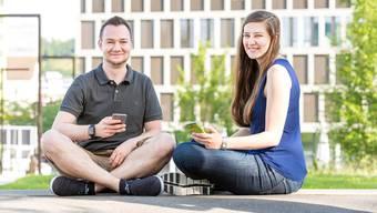 Engagieren sich für ausländische Studierende an der FHNW: Patrik Lustenberger und Aline von Jüchen.