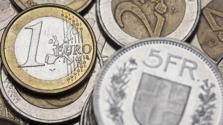 """""""Frankenschock"""" lässt nach: die Schweizer Währungen verliert gegenüber dem Euro weiter an Wert."""