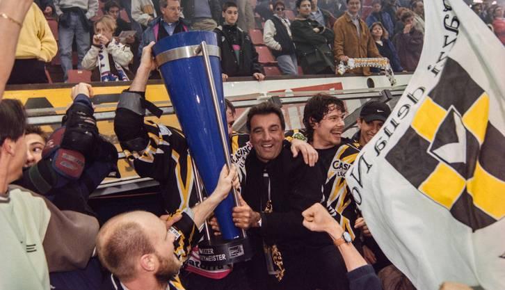 Jim Koleff gewinnt 1999 den Titel mit dem HC Lugano