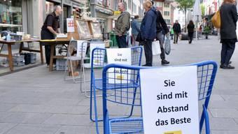 Erster Wochenmarkt Baden nach dem Lockdown