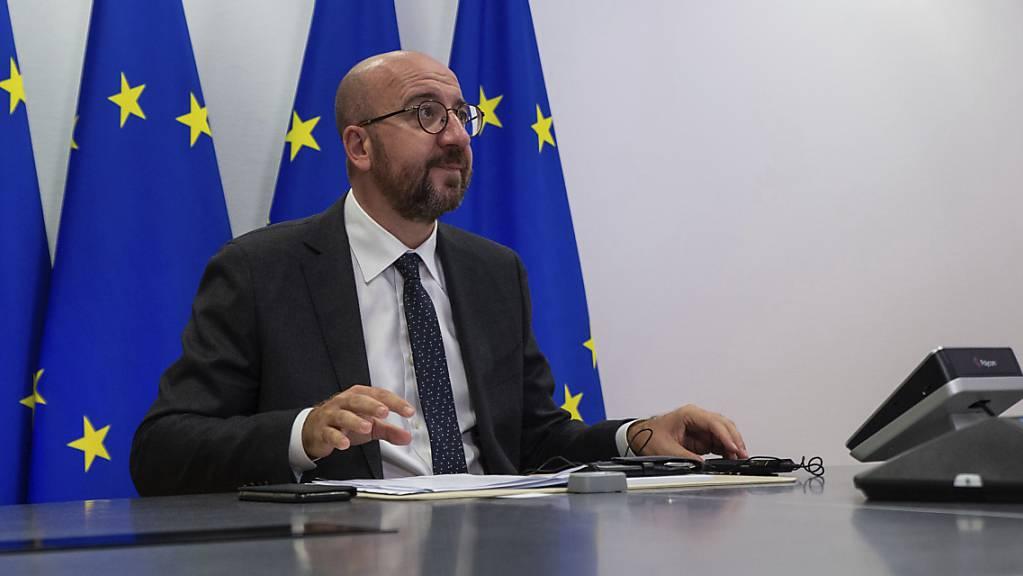 Charles Michel, Präsident des Europäischen Rates. Foto: Aris Oikonomou/Pool AFP/AP/dpa
