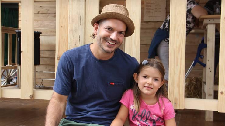 Marco Jacopini, 40 und seine fünfjährige Tochter Noa-Eline aus Windisch