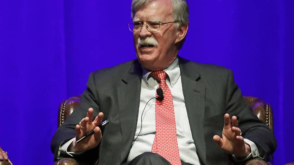 Bericht: Ex-Berater Bolton erhebt schwere Vorwürfe gegen Trump