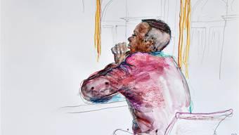 Abdirahman Y. (25) hat vor Gericht wenig zu sagen. Linda Graedl/Keystone