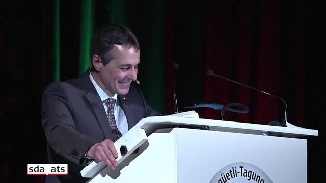 Bundesrat Ignazio Cassis fordert die SVP zur Zusammenarbeit auf
