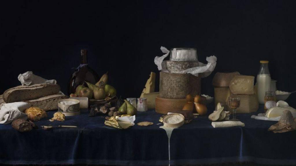 Macht Appetit auf Kunst: «Le Triptyque des Délices» der Künstlerin Katharina Lütscher in der Ausstellung «Zu Tisch» im Vögele Kultur Zentrum in Pfäffikon SZ.