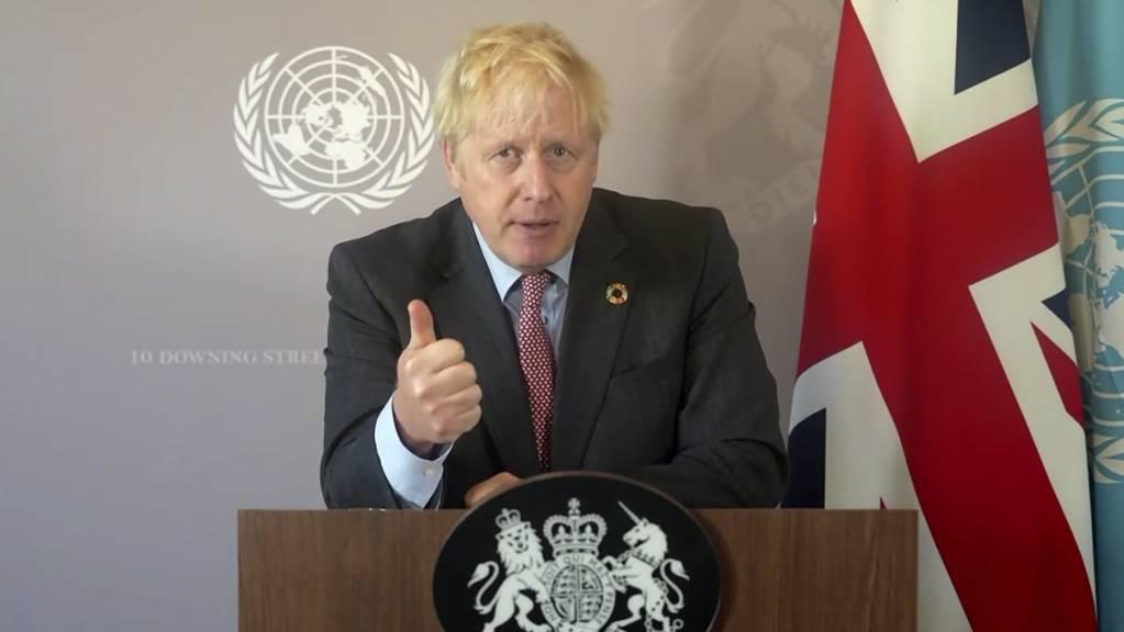 «Wir wissen, dass wir so nicht weitermachen können.»: Premier Boris Johnson bei seiner aufgezeichneten Rede.