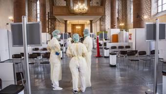 Corona-Tests in Predigerkirche, Basel