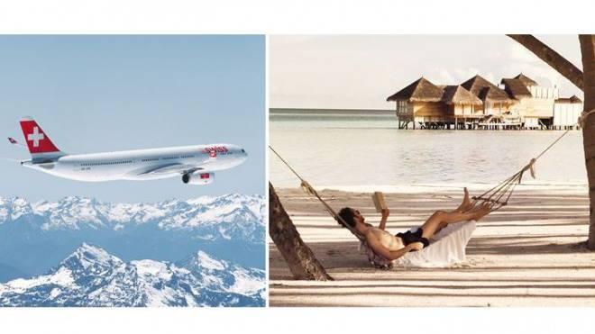 Ein Platz im Swiss-Airbus oder in der Hängematte auf den Malediven lässt sich per Smartphone organisieren. Foto: Keystone, Kuoni