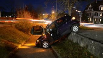 Die Lenkerin blieb beim Selbstunfall in Liestal unverletzt.