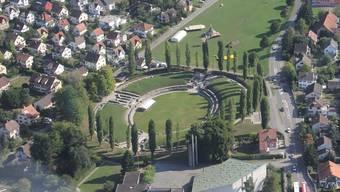 Die Gemeinde Windisch hat besonders im Bereich Wohnen zugelegt. Als Beispiel wird die Fehlmannmatte (weisse Überbauung Bildmitte) genannt. Claudia Meier