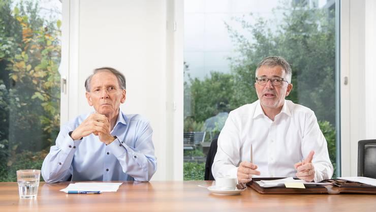 Die FCL-Aktionäre Hans Schmid (links) und Marco Sieber.