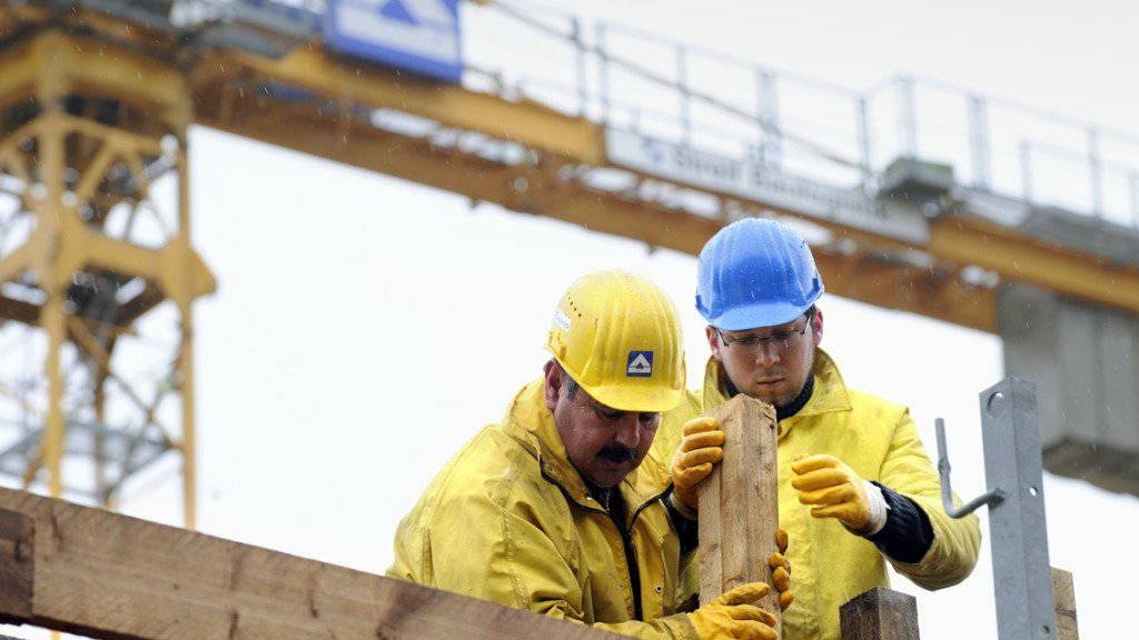 Auch in der Baubranche ist das Klima in den Euroländern etwas besser (Symbolbild).