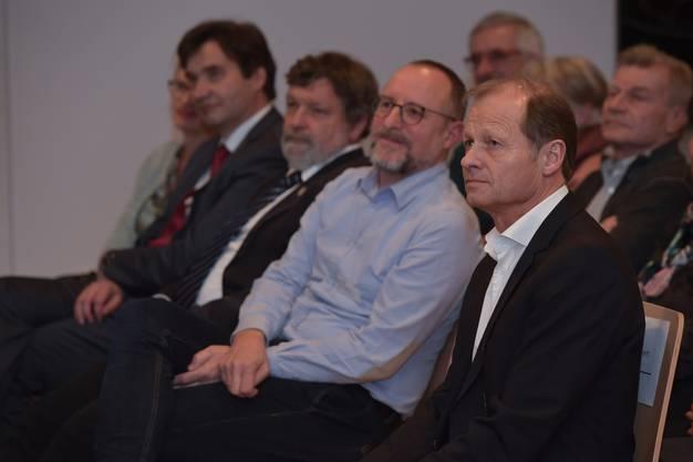 V.l.: Veronika und François Scheidegger, Regierungsrat Roland Heim, Mike Brotschi und Kultrupreisträger Marc Reist.