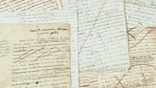 Unveröffentlichte Manuskripte des Revolutionärs Maximilien de Robespierre