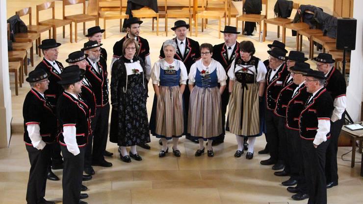 Der Jodlerklub Laufenburg-Rheinfelden bei seinem Konzert in Kaisten.