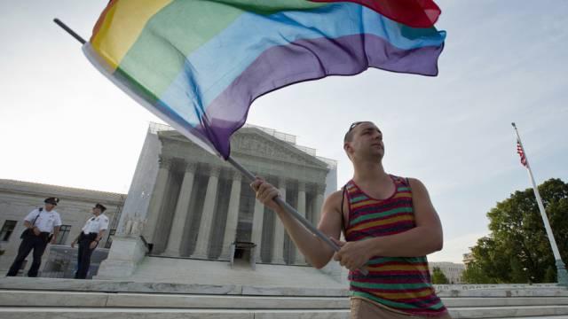 Aktivist vor dem Obersten Gerichtshof in Washington (Archiv)