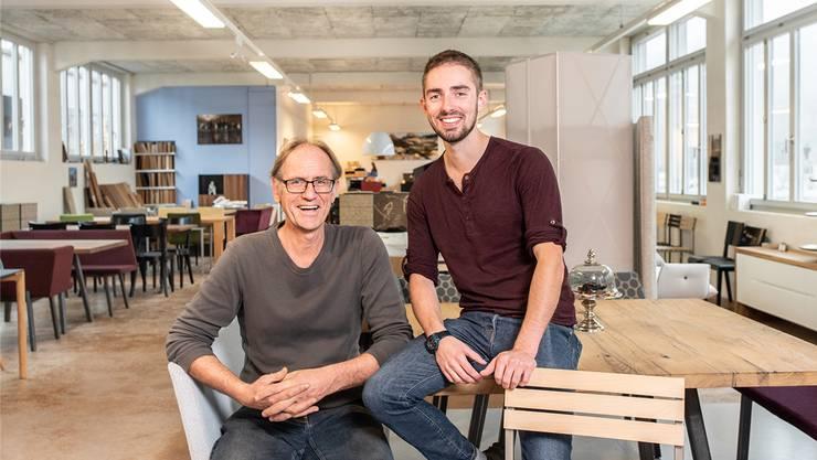 Bald tauschen sie die Rollen: Ab 2019 sagt Samuel Blaser (rechts) seinem bisherigen Chef Markus Spicher, wo es langgeht.