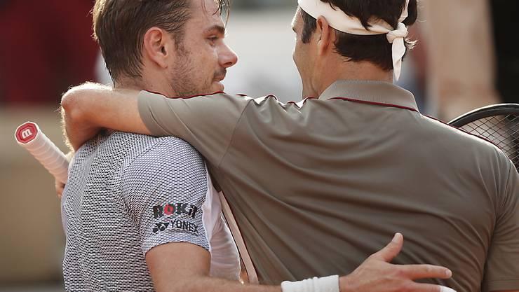 Eine Niederlage, die nicht sonderlich weh tut: Stan Wawrinka ist trotz des Ausscheidens gegen Roger Federer mit seinem French Open sehr zufrieden