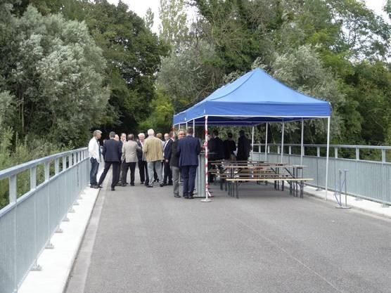 Blick über die Ergolzbrücke in Richtung Kaiseraugst