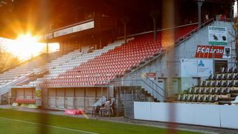 Das Stadion des FC Aarau.