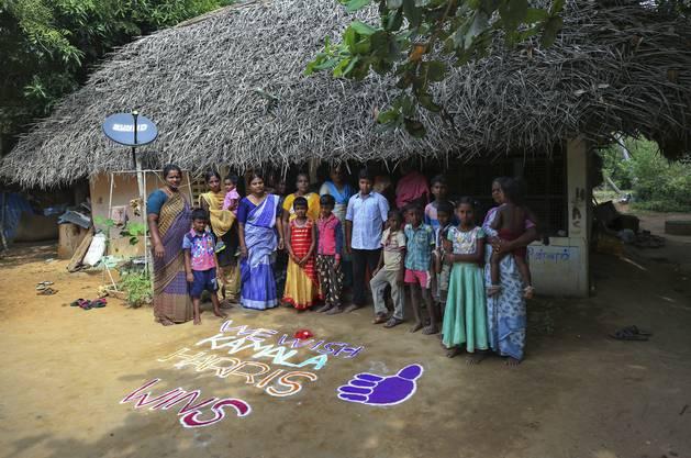 Die Bewohner im südindischen Dorf Thlasendrapuram haben Grund zum Feiern: Kamala Harris' Grossvater ist hier aufgewachsen.