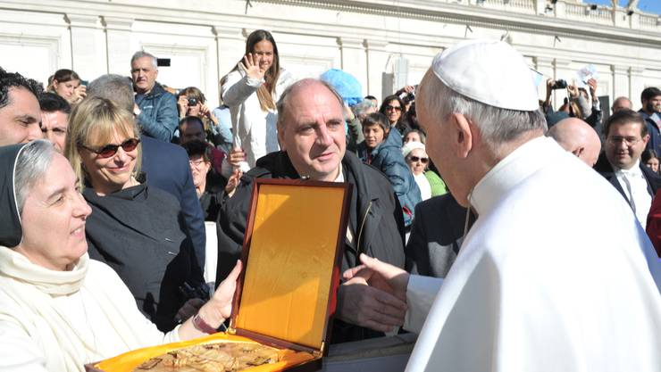 Paul Rutz mit Papst Franziskus
