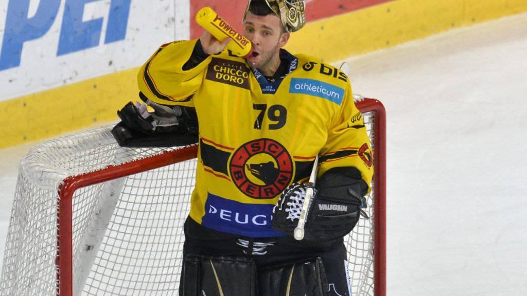 Lugano-Leihspieler Daniel Manzato bei seinem ersten und zugleich letzten Einsatz im SCB-Dress