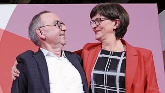 Die neue SPD-Doppelspitze: Norbert Walter-Borjans und Saskia Esken.