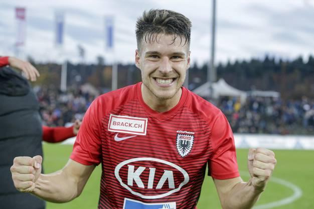 Giuseppe Leo, glücklich über den 3. Sieg in Serie.